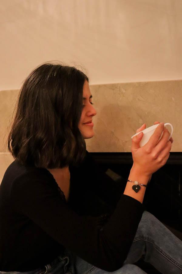 pulseira cristal café