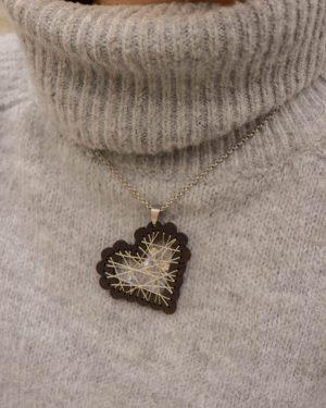 coração bordado cristais