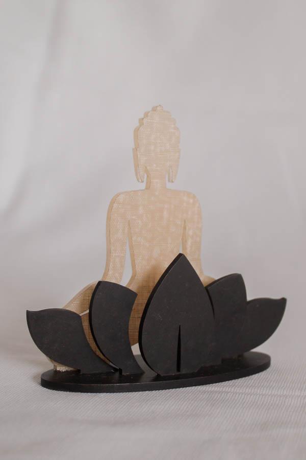 Bekoffee Buda Branco em Flor de Lotus