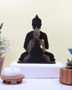 Escultura três budas Bekoffee