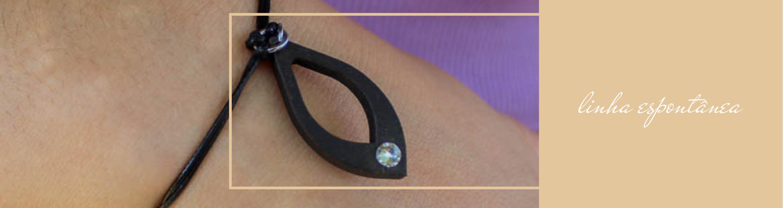 Linha espontânea bijuteria joalharia sustentável com borras de café