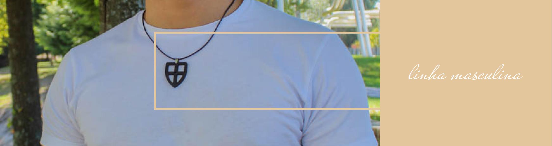 Linha masculina bijuteria joalharia sustentável com borras de café